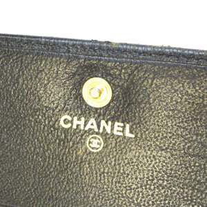Chanel CC Black leather Wallet usa
