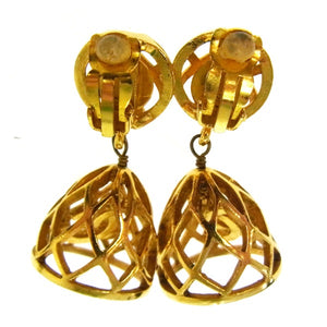 Chanel CC Cage Earrings