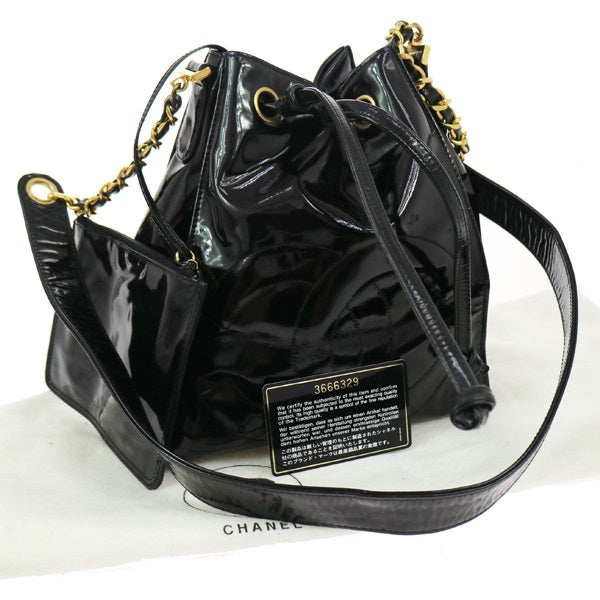 Chanel CC Drawstring Chain Shoulder  bag
