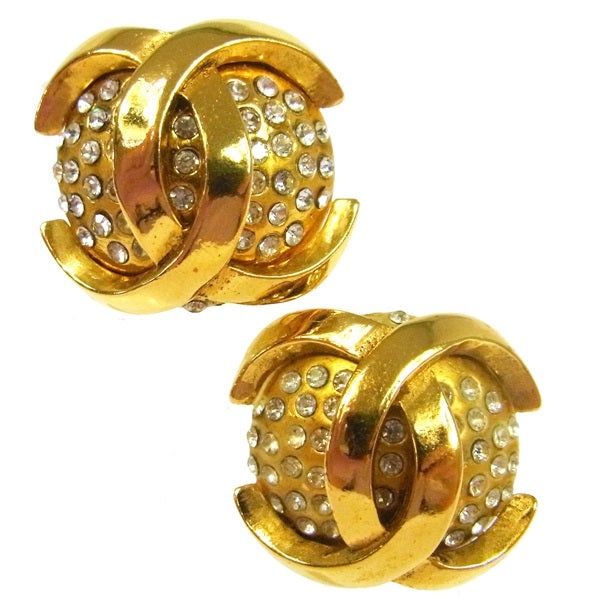 Chanel CC Button Rhinestone