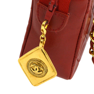 Chanel CC  Chain Bag Red Leather