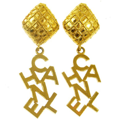 Chanel CC Earrings Gold-Tone
