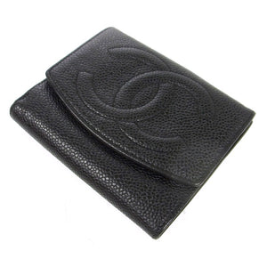 Chanel CC Bifold Wallet Black Caviar Leather