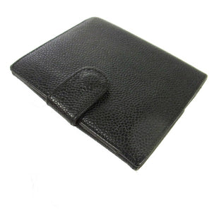 Chanel Cc bifold wallet Black caviar leather the real real