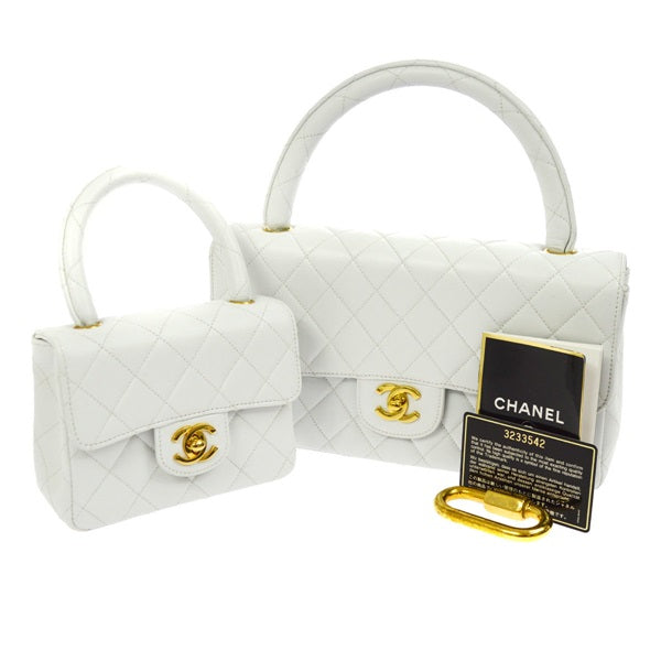 90608d18482fa6 Chanel vintage CC Hand Bag Set White bag,Luxury Chanel cc Mini bag ...