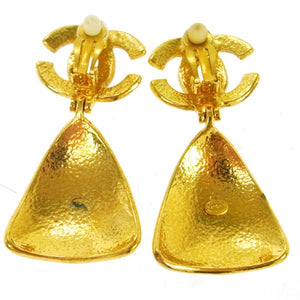 Chanel CC Bell Motif Earrings