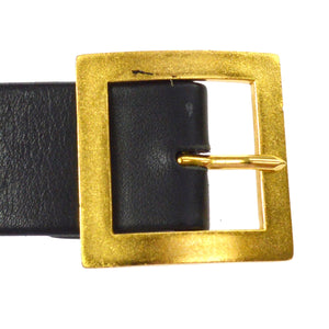 Chanel  CC Belt gold-tone & Leather
