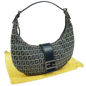 FENDI Leather-Trimmed Hobo