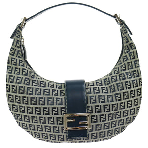 FENDI Leather-Trimmed Hobo the real real