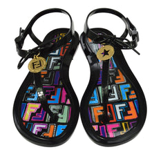 FENDI Zucca Black Sandals Shoes