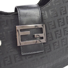 Fendi Black Canvas Leather Zucchino