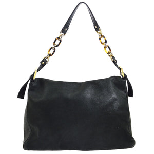 FENDI Leather Mamma Baguette Chain Bag THE REAL REAL
