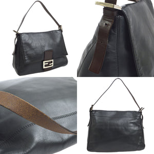 Fendi Black  Leather Mama Baguette Hand Bag on etsy