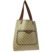 GUCCI Shelly Line GG Pattern Shoulder Tote Bag