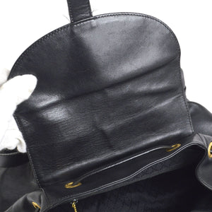 GUCCI Black Vintage Bamboo Backpack at the real real