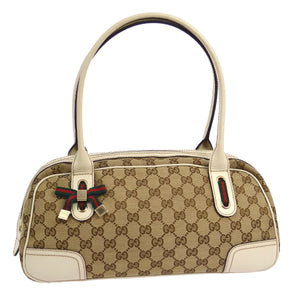 GUCCI GG Canvas Shelly Handbag Tote, Gucci Guccissima,