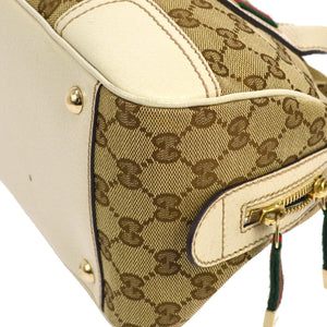 GUCCI GG Canvas Shelly Handbag Tote, Gucci Guccissima, the real real