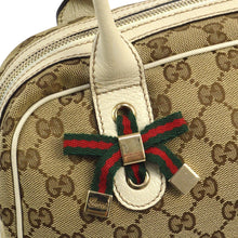 GUCCI GG Canvas Shelly Handbag Tote, Gucci Guccissima