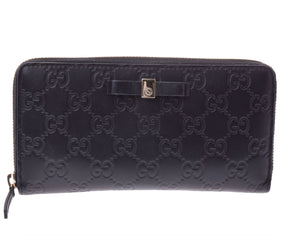 GUCCI Interlocking Guccissima Zip Wallet the real real