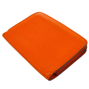 Hermès Dogon Orange Bifold Coin Wallet