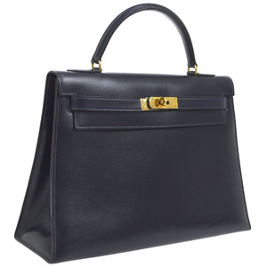 Hermès Kelly 32 Box Calf Hand Bag