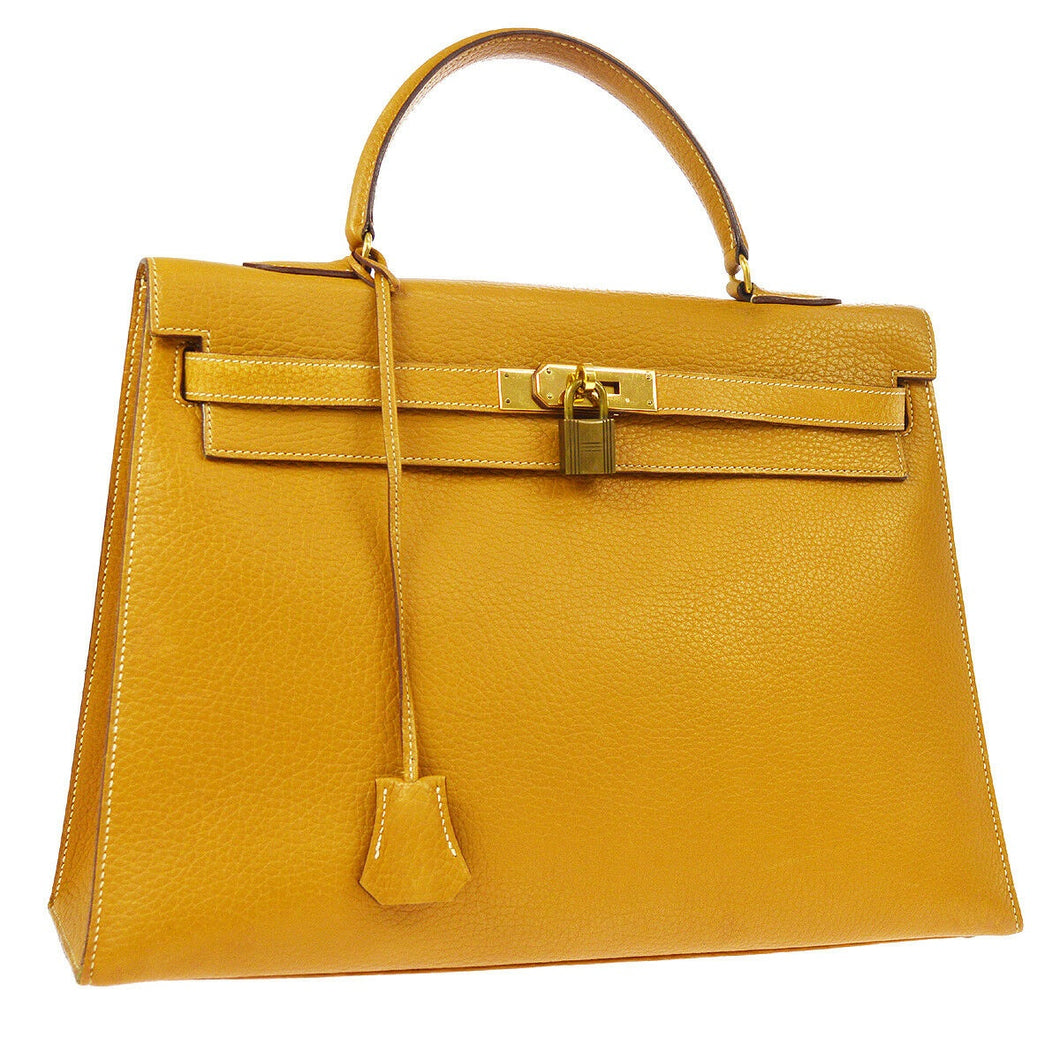 Hermes Kelly Sellier 35 yellow