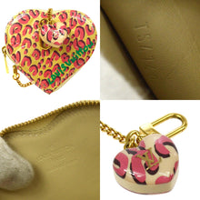 LOUIS VUITTON Monogram Vernis Leopard Heart Coin Purse