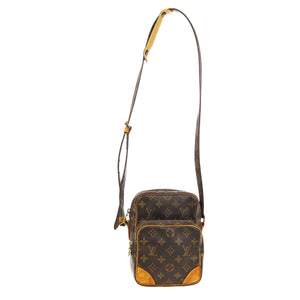 Authentic Louis Vuitton Amazone Brown and tan monogram coated canvas vintage crossbody bag