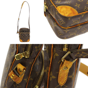 Louis Vuitton Amazone Brown and tan monogram coated canvas vintage crossbody bag