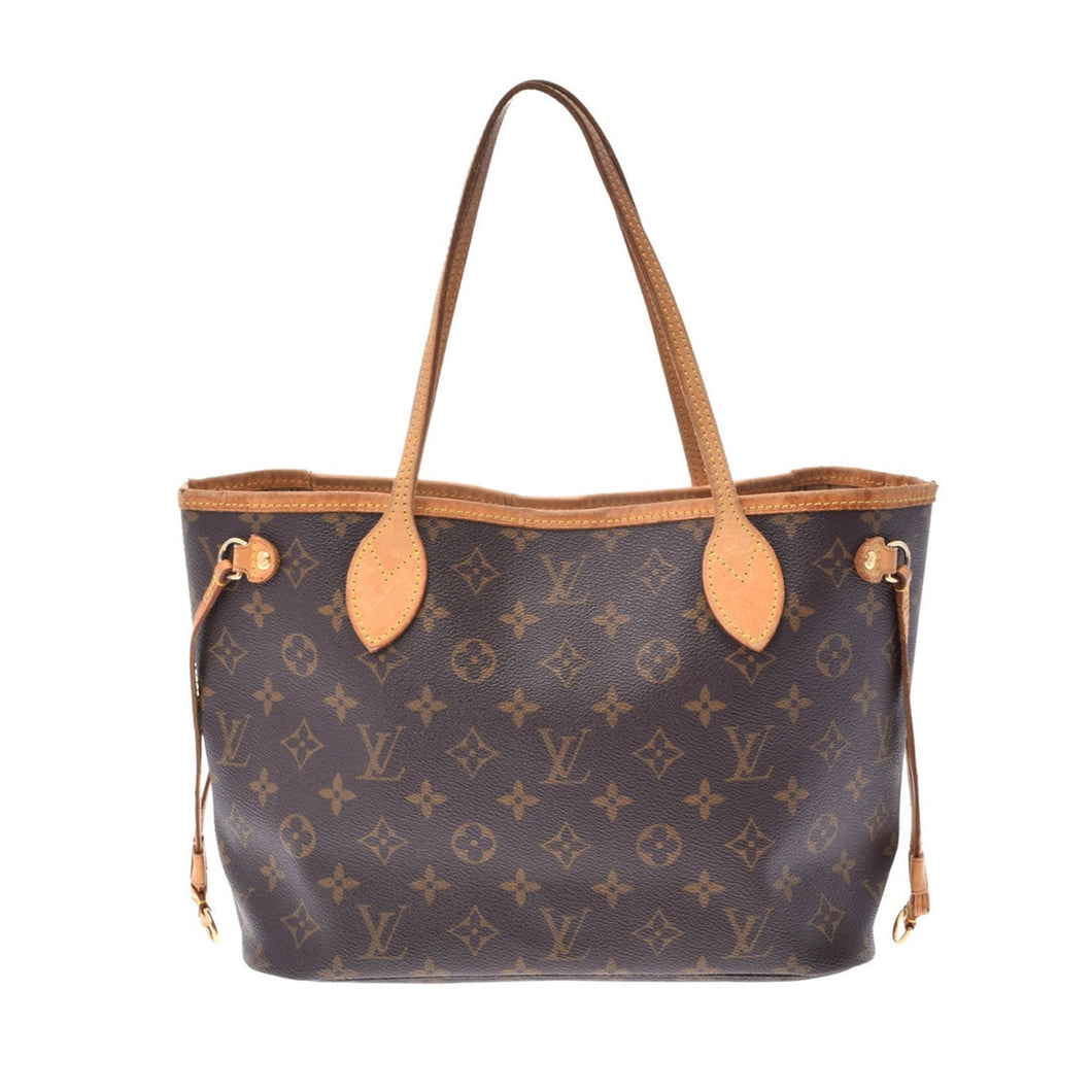 LOUIS VUITTON Monogram Neverfull PM, Louis Vuitton Brown and tan Monogram coated canvas Neverfull PM