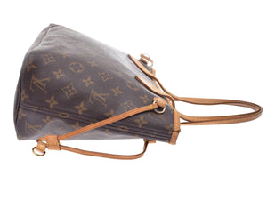 LOUIS VUITTON Monogram Neverfull PM, Louis Vuitton Brown and tan Monogram coated canvas Neverfull PM at the real real