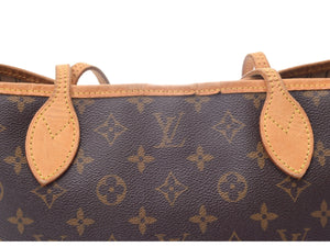 LOUIS VUITTON Monogram Neverfull PM, Louis Vuitton Brown and tan Monogram coated canvas Neverfull PM vestiaire collective
