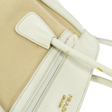PRADA white Saffiano crossbody