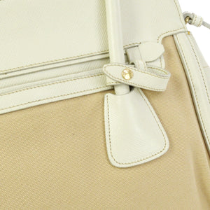 PRADA Saffiano & Canapa 2way bag