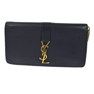 Yves Saint Laurent Zip-Around Leather Wallet