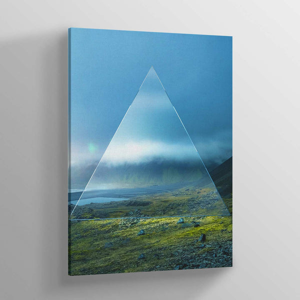 Glass Triangle Canvas Print