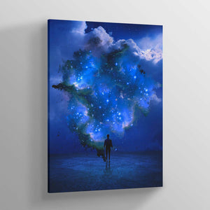 Cosmia Blue Canvas Print - Lumi Prints