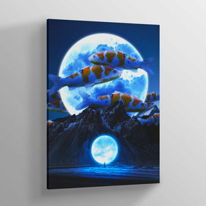 Lunar Fishbowl Canvas Print - Lumi Prints