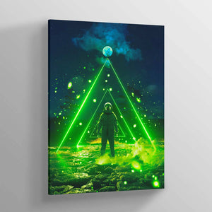 COSM Green Canvas Print - Lumi Prints