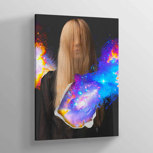 Closed Eyes Canvas Print - Lumi Prints