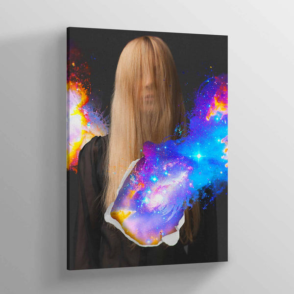 Closed Eyes Canvas Print
