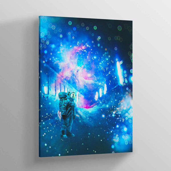 Cosmic Train Station Canvas Print