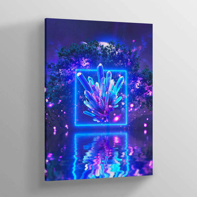 Neon Glow Canvas Print - Lumi Prints