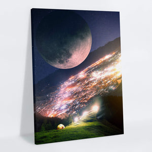 Moony Canvas Print - Lumi Prints