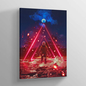 COSM Red Canvas Print - Lumi Prints