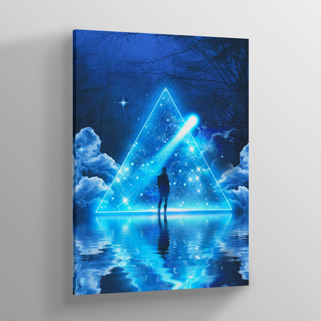 Trispangle Canvas Print - Lumi Prints