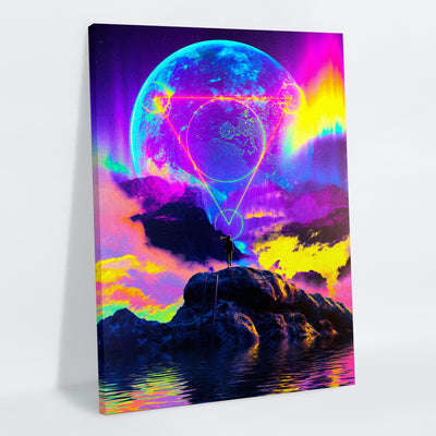 Neon Night Canvas Print - Lumi Prints