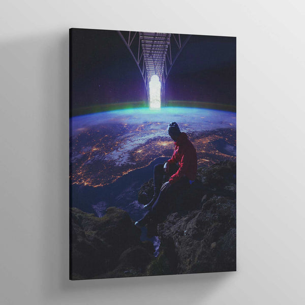 Ladder to Space Canvas Print