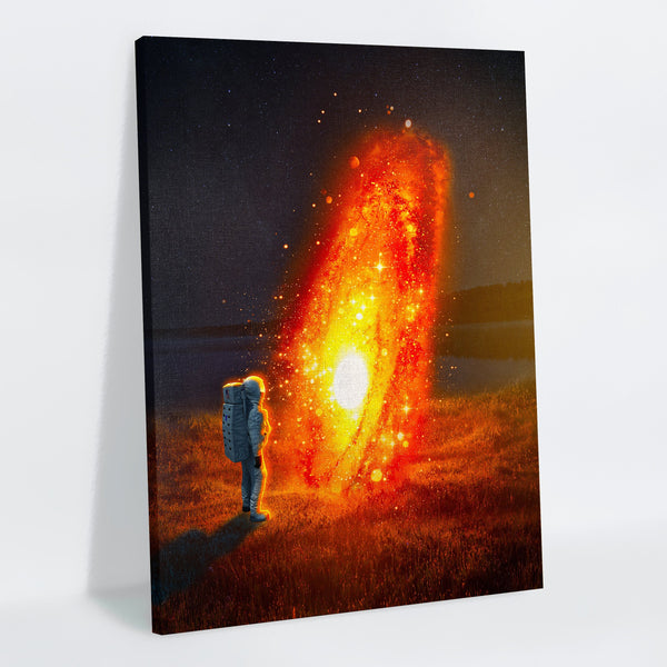 Lava Galaxy Canvas Print