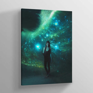 Cosmic Ocean Canvas Print - Lumi Prints